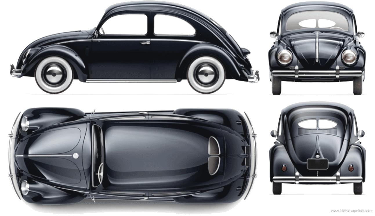 1948 Volkswagen Beetle drawings