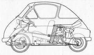 BMW Isetta-drawing