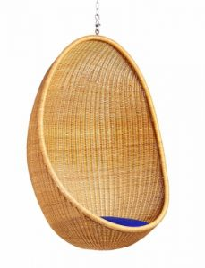 The Hanging Wicker Egg Chair