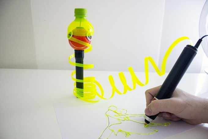 Turn plastic bottles into 3D artworks
